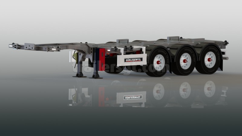Extendable Chassis Container Semi Trailer